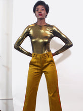 Load image into Gallery viewer, Gold Long Sleeve Bodysuit