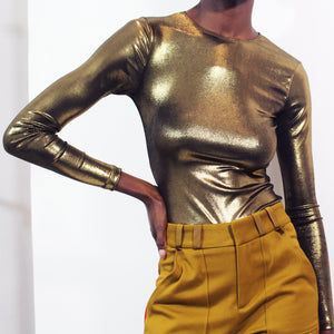 Gold Long Sleeve Bodysuit