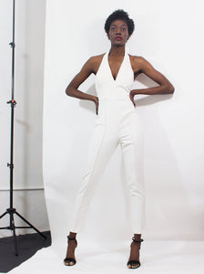 Halter White Jumpsuit