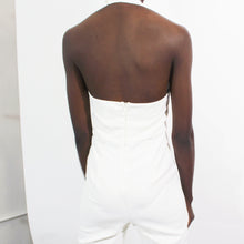 Load image into Gallery viewer, Halter White Jumpsuit