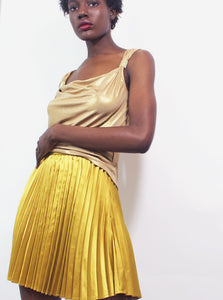 Sleeveless Gold Blouse