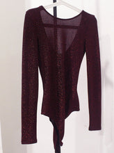 Load image into Gallery viewer, Shimmer Red Long Sleeve Bodysuit