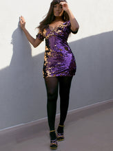 Load image into Gallery viewer, Multi Color Sequin Dress