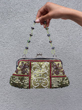 Load image into Gallery viewer, Beaded Green Purse