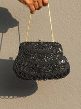 Load image into Gallery viewer, Beaded Black Purse