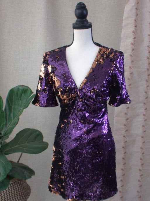 Multi Color Sequin Dress