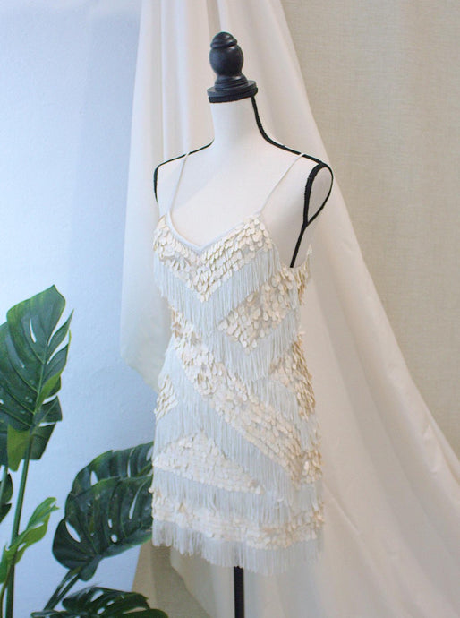 Beaded White Dress