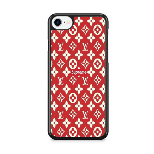 classic fit ee6af 95e45 Supreme Louis Vuitton Red iPhone 8 3D Case