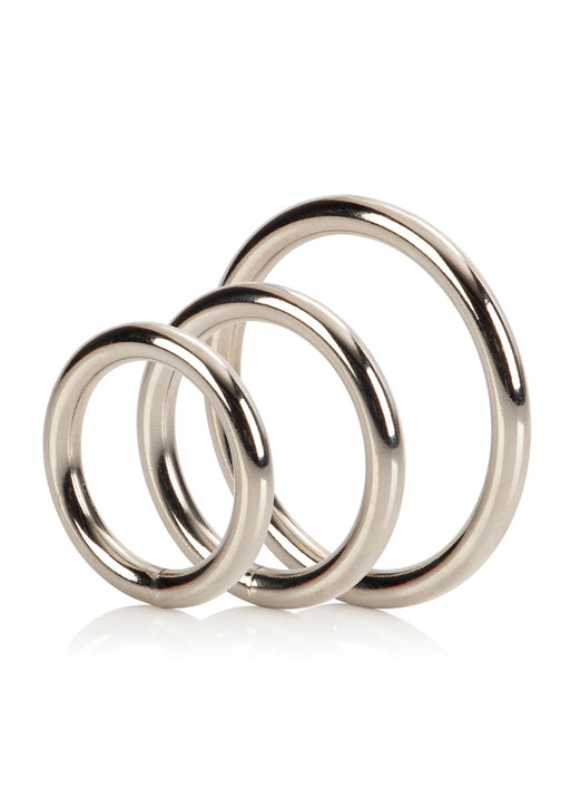 Silver Ring - 3 Piece Set - Penisrenkaat - Metalli