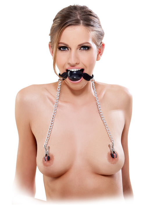 Ball Gag & Nipple Clamps - Suukapula