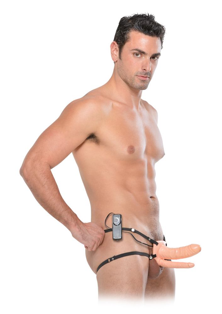 Double Hollow Strap-On 17 cm