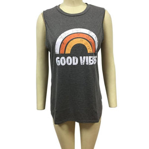 Womens Hippie Ryot Good Vibes Tank Top