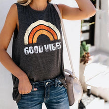 Load image into Gallery viewer, Womens Hippie Ryot Good Vibes Tank Top