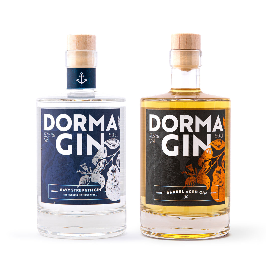 DormaGIN Connaisseur-Bundle: Navy Strength GIN 500 ml + Barrel Aged Premium Dry Gin 500 ml