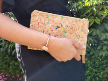 Load image into Gallery viewer, Cork Clutch Rainbow (Small)