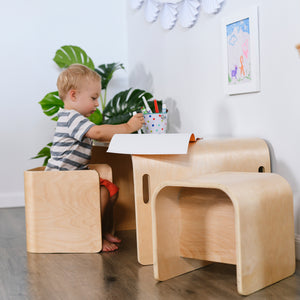 Bentwood Multipurpose Table and Chair Set - Little Tactile