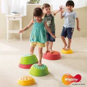 Weplay Rainbow River Stone 6pc - Little Tactile