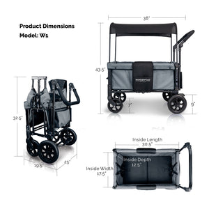 Wonderfold W1 Multifunctional Double Stroller Wagon (2 Seater)