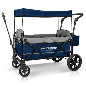 WonderFold X2 Pull & Push Double Stroller Wagon (2 Seater)