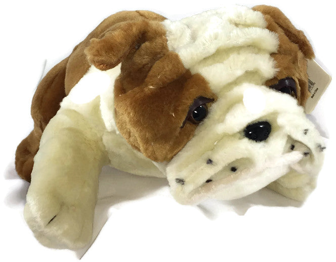 Covered In Comfort Weighted Stuffed Animal Bulldog - Large - Little Tactile