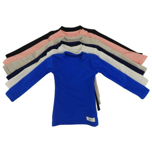 Kozie Baby Long Sleeve Plain And Simple Compression Shirt - Little Tactile