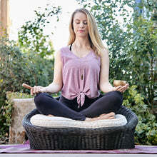 Gaiam Rattan Meditation Chair - Little Tactile