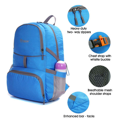... Image of Packable Backpack - Ultra Lightweight Durable Water Resistant  Handy Foldable Travel Hiking Camping Outdoor ... bd117e05a6
