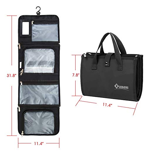 a4209a934a Hover to zoom · Premium Hanging Toiletry Bag Travel Toiletry Kit Organizer  for Men