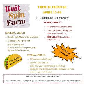 Virtual Festival - Schedule of Events!! (April 17-19)
