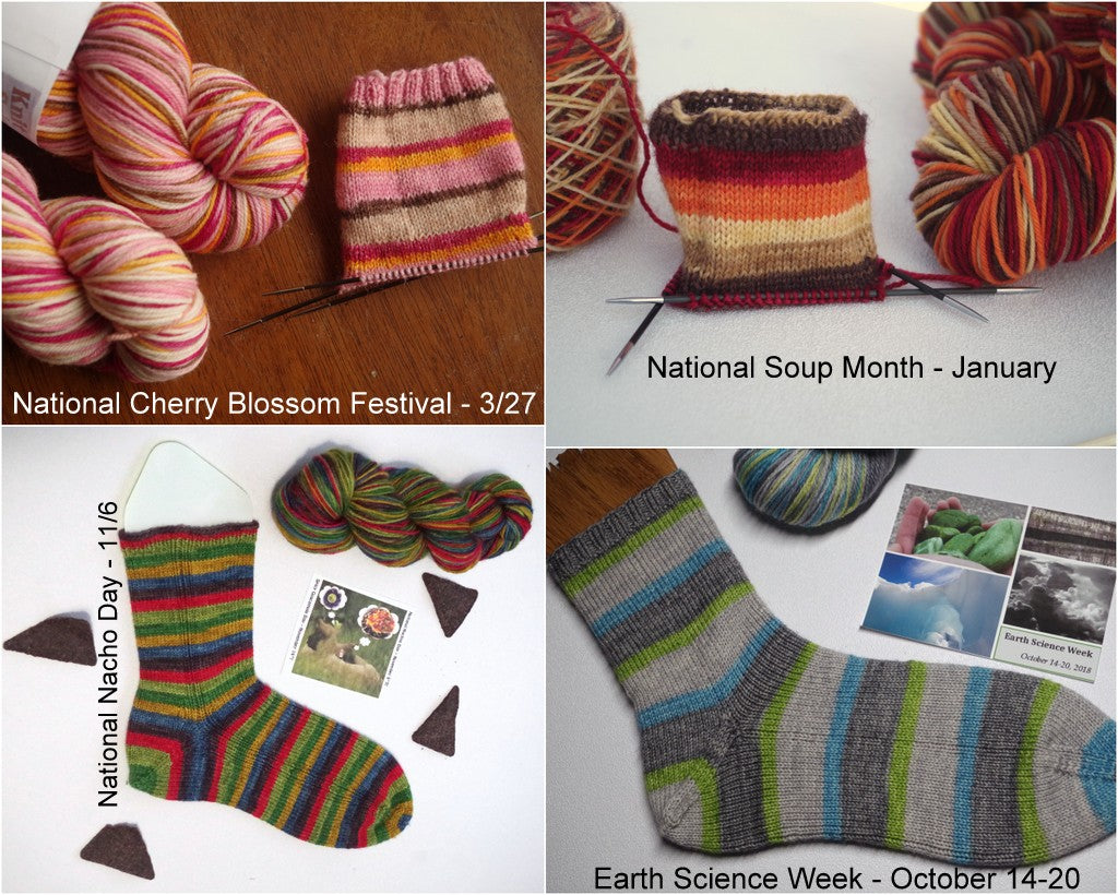 (Waitlist) Little Known Holidays Monthly Self-Striping Yarn Club