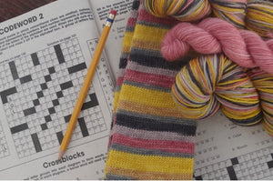 National Crossword Puzzle Day - Self Striping Sock Yarn