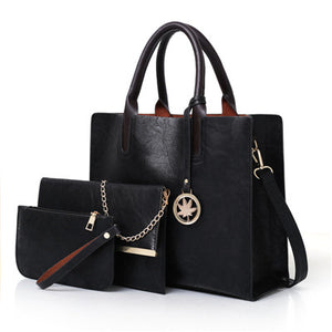 2018 New Women Bags Purses and Handbags Sets for Women Leather Satchel Tote Shoulder Bag 3pcs