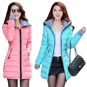 New Zogaa Brand Winter Coat Women Jacket long parkas mujer 2018 Cotton