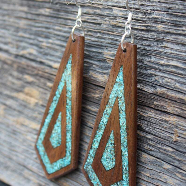 Unique Wood Earrings