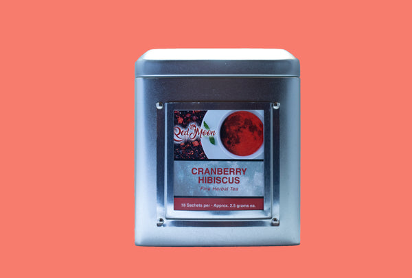 Cranberry Hibiscus Silver Tin