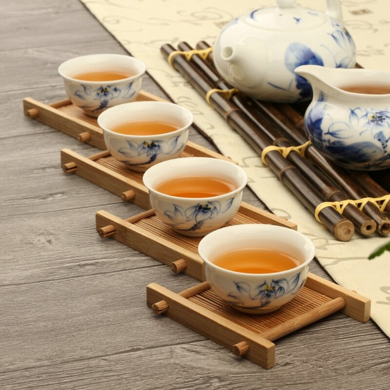 Mini Solid Wood Tea Coaster