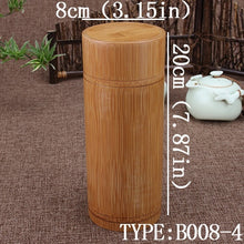 Load image into Gallery viewer, Bamboo Storage Box Tea Canister Lid Seal