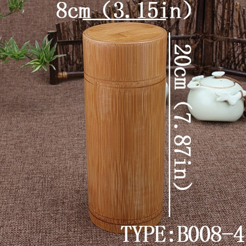 Bamboo Storage Box Tea Canister Lid Seal
