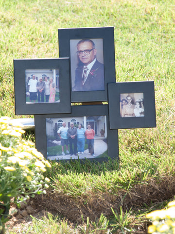Photos of Steve Ancy and his family, at his memorial service.