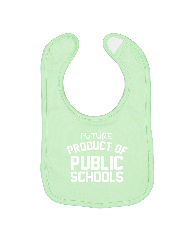 Future Product of Public Schools Bib - Mint - Originalitees