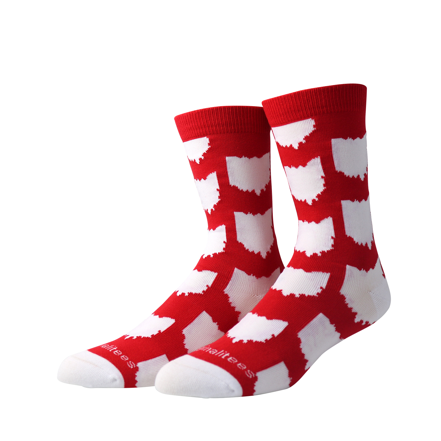 All Over OH Socks - Red/White