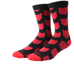 All Over OH Socks - Black/Red - Originalitees