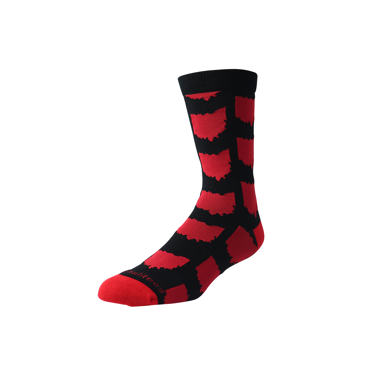All Over OH Socks - Black/Red