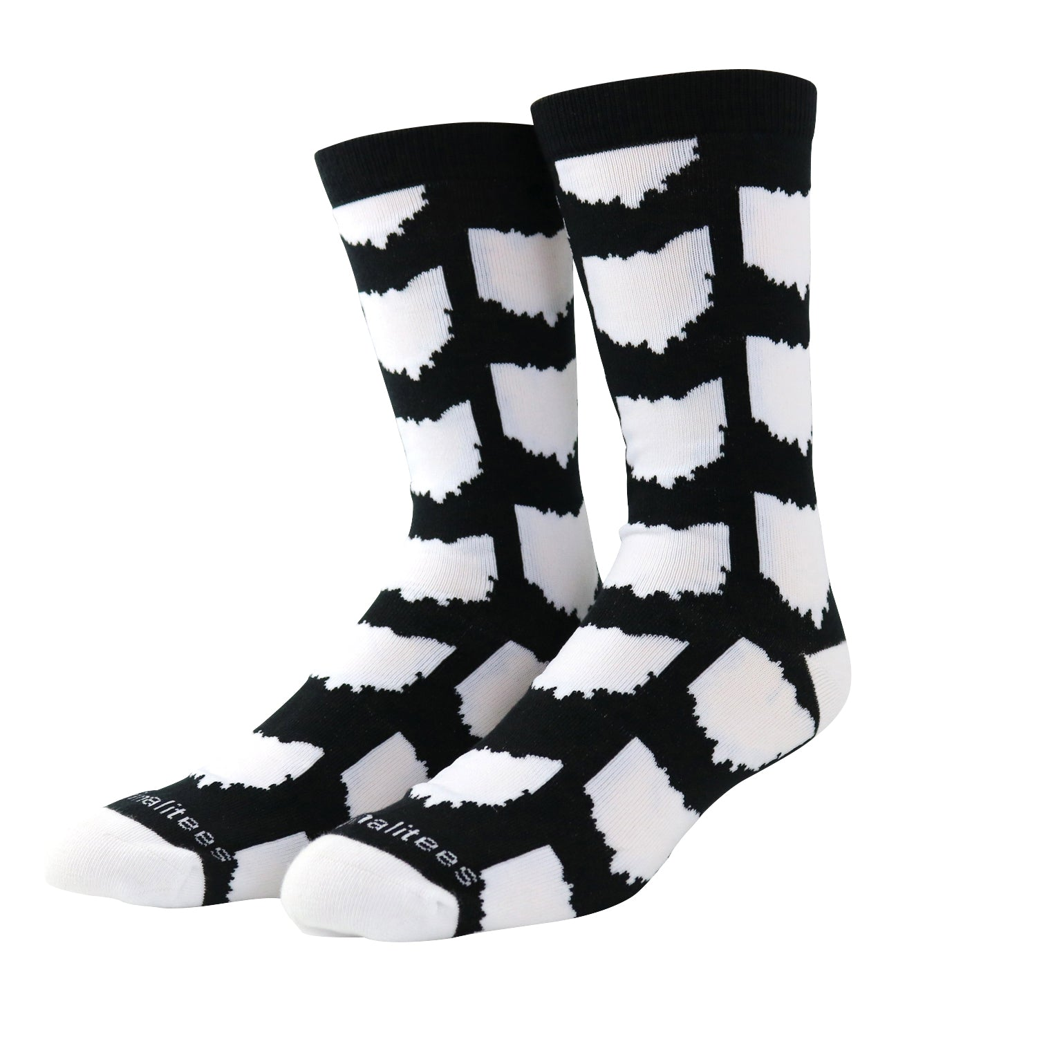 All Over OH Socks - Black/White