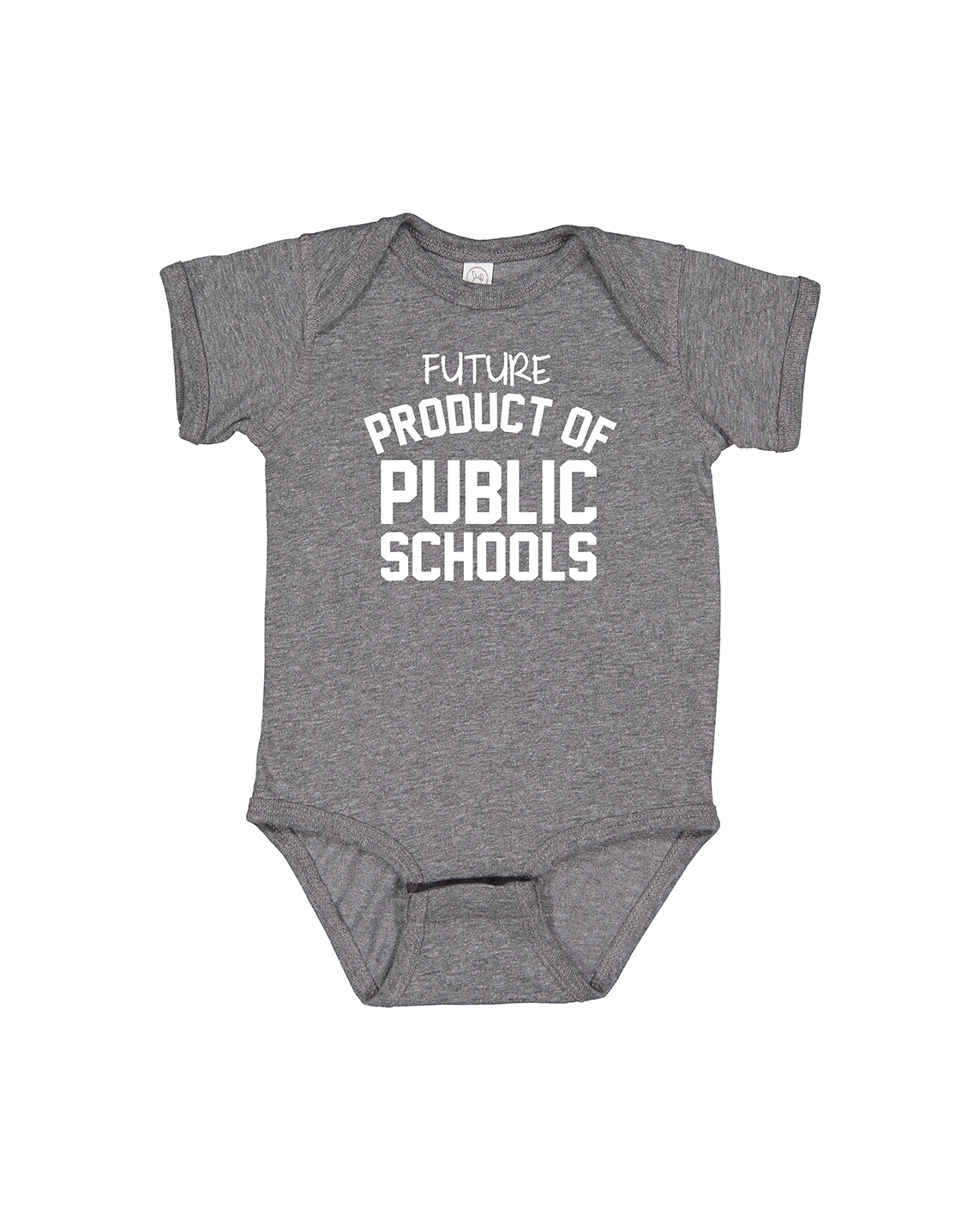 Future Product of Public Schools Short Sleeve Onesie - Grey - Originalitees