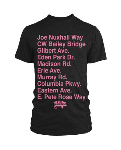 Cincinnati Streets - Full Marathon Edition, New Apparel,Tees - Originalitees