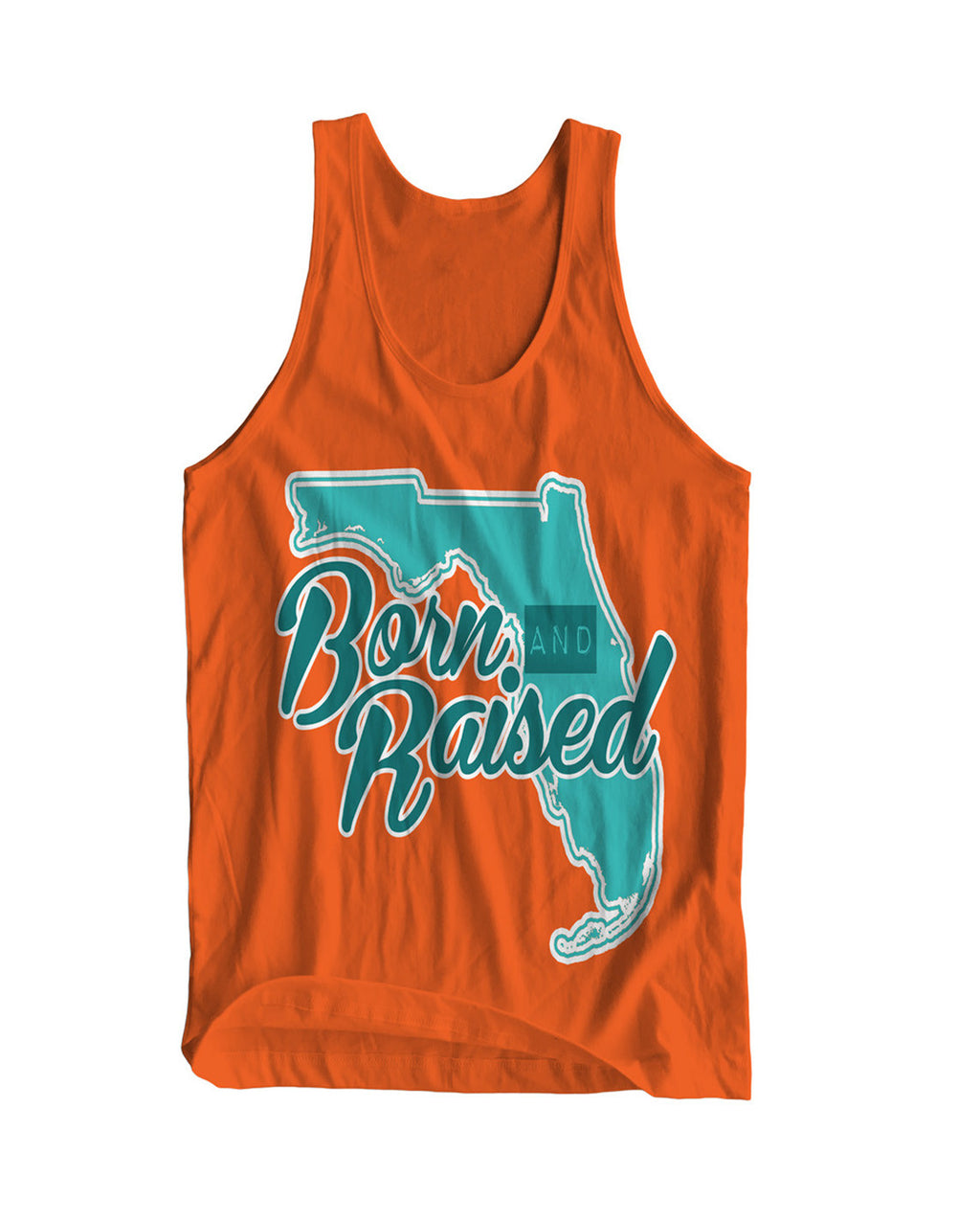 Florida: Born & Raised Tank in Orange - Originalitees