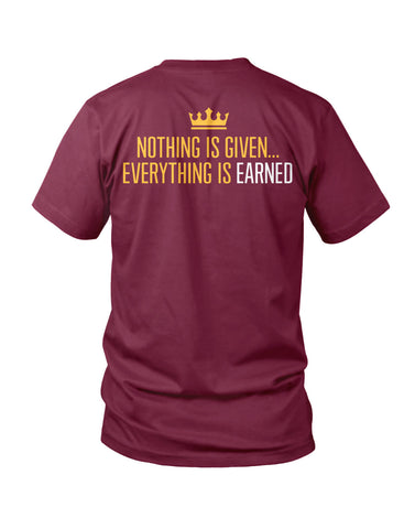 Earned - Wine, New Apparel,Tees - Originalitees