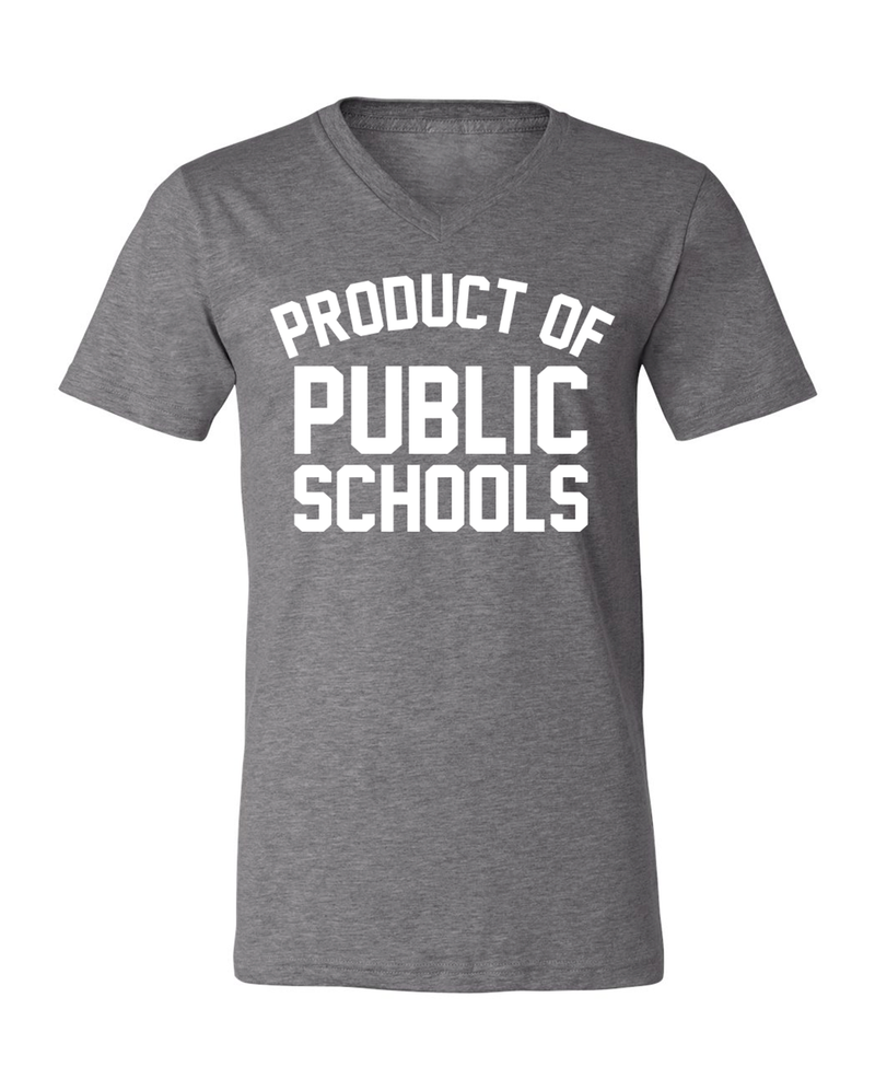 Product of Public Schools - Unisex V-Neck - Grey