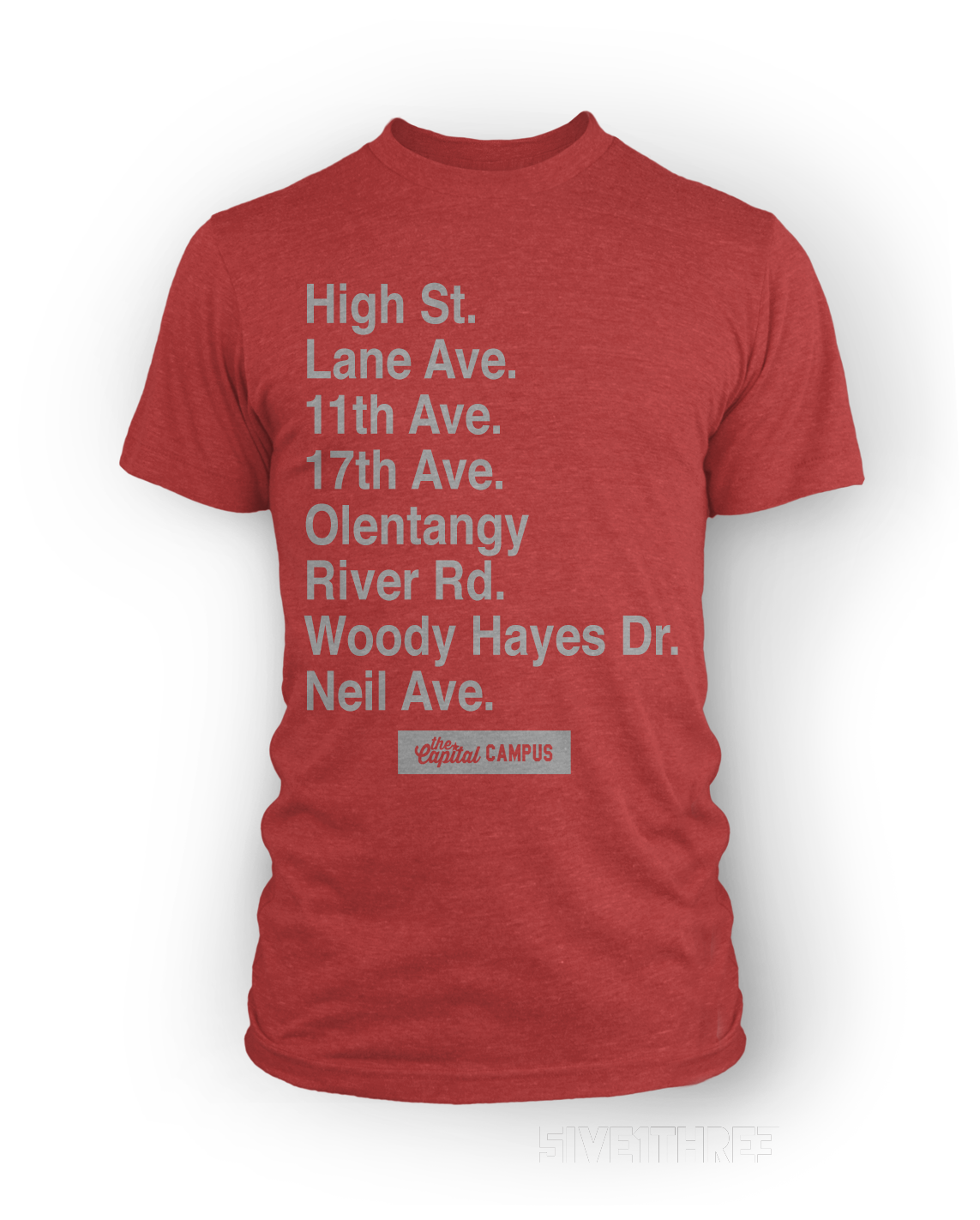 Columbus Streets - Campus Edition - Red